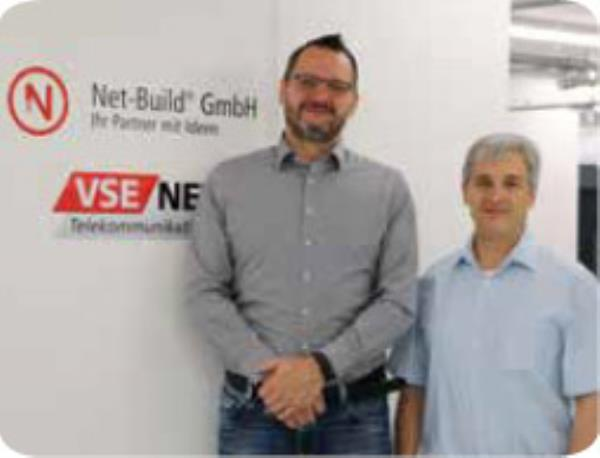 Mr. Patrick Bohn, Net-Build GmbH, with Mr. Anton Immerz, Munters GmbH
