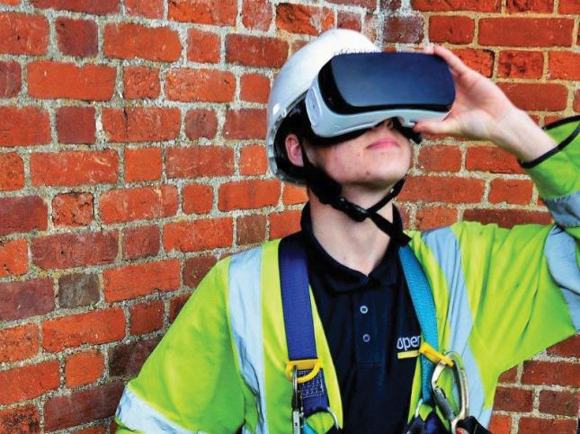 Climbing a pole for the first time can be daunting for new recruits, which is why Openreach is using virtual reality to give people a real insight into what's involved.