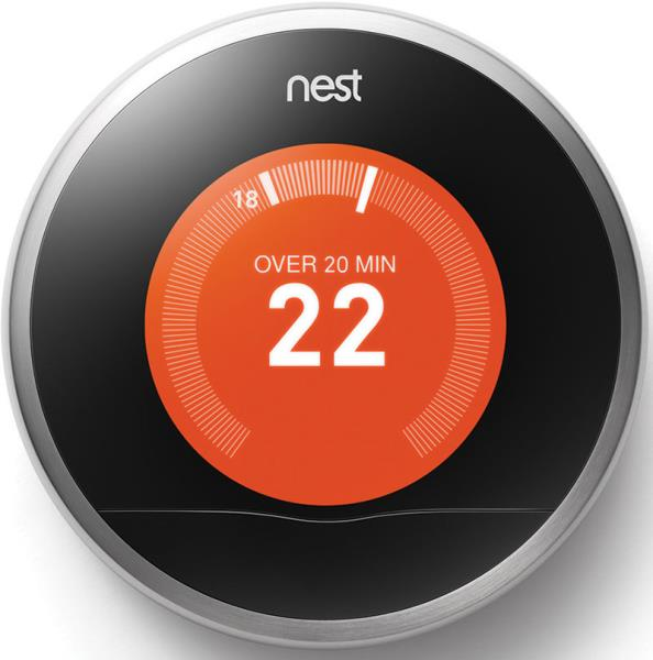 The IoT will be everywhere, including your home. For example, the Nest learning thermostat shown here programmes itself, turns itself down when the house is empty, and can be controlled from anywhere via a smartphone, tablet, or laptop.