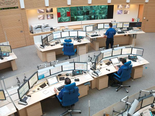 Frequentis says more than 1,000 dispatchers worldwide – such as the Swiss police shown here – work with its system which connects telephony and radio functions with all associated data services.