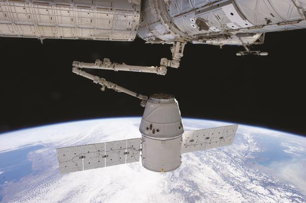 SpaceX's Dragon spacecraft is used to deliver cargo to the International Space Station for NASA.