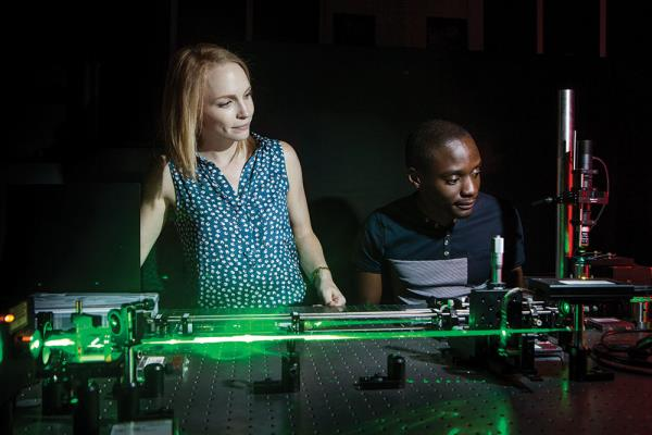 An experiment being conducted in the Structured Light Laboratory at the University of the Witwatersrand, South Africa.PHOTO Wits University
