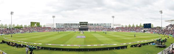 Giant connected LEDs measuring a total of 120m2 are being installed at The Ageas Bowl in Southampton.