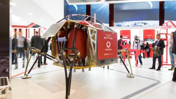 Vodafone's 4G lunar base station as displayed at MWC 2018 held in Barcelona last week.