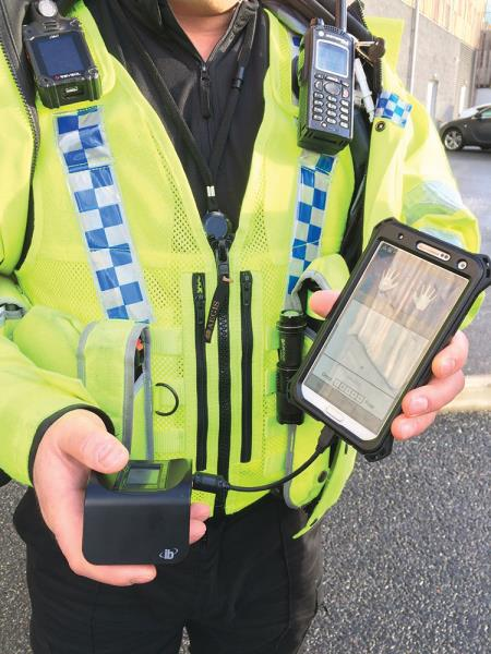 Frontline officers can connect the new scanners to their existing mobile devices in order to access the national database.