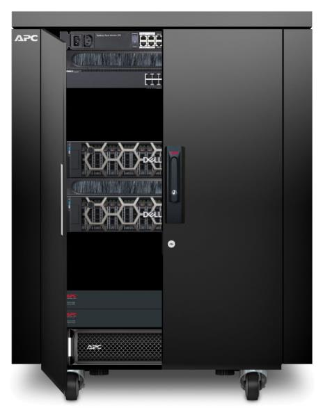 The ready to use micro data centre features hardware from APC, Dell/EMC as well as hypervisors from VMWare or Microsoft, and StorMagic's virtual SAN software.