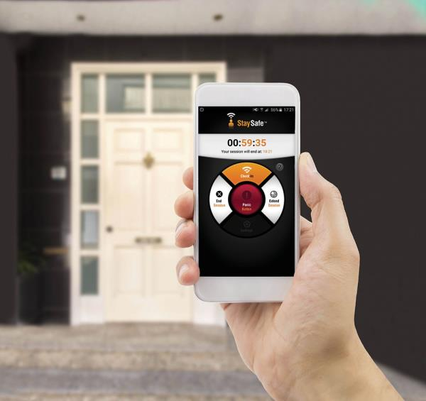 The app offers a range of functions including a panic button. If an employee fails to check in, alerts are automatically triggered.