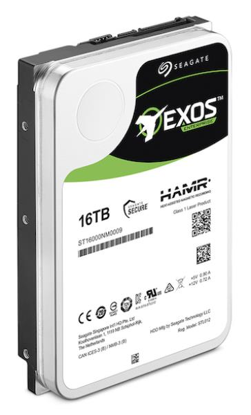 A16TB pre-release version ofSeagate's HAMR-based Exosis being used to run enterprise application tests.