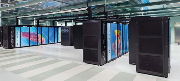 "HLRS' current supercomputer ""Hazel Hen"" is based on a Cray XC40 system and offers peak performance of 7.42 petaflops."