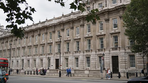 The Cabinet Office in Westminster, London, UK