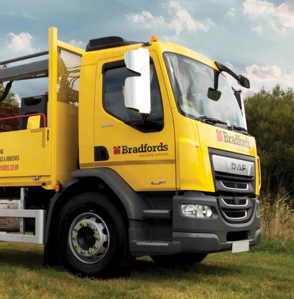 Bradfords has over 40 branches throughout the South West of England and currently operates a fleet of 700 vehicles that range from forklifts to cars to pickups and Large Goods Vehicles (LGVs)